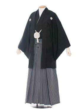 男性用袴 紋服4号定番黒紋付/4000