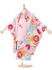 七五三(3歳女)H338A 式部浪漫 ピンク×水色