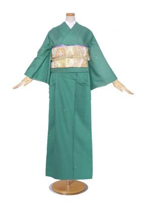 レンタル 訪問着 京友禅 ・緑 グリーン系