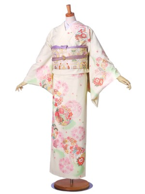 JAPANSTYLE フルセット 訪問着 桜 藤 花輪