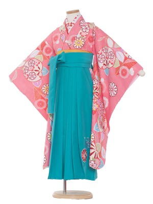 女児袴(7女)0032 花柄×袴