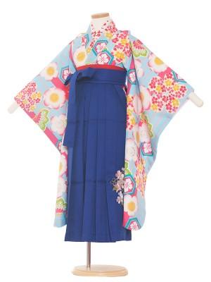 女児袴(7女)0038 水色/サクラ/青袴