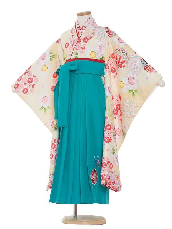 七五三・卒園式袴レンタル(7女袴)0034 花と毬×袴
