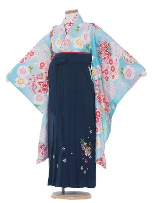 女児袴(7女)0029 かわい×紺袴