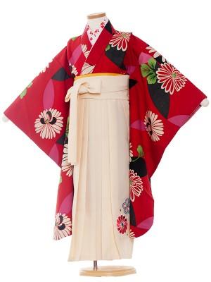 女児袴(7女)0117 赤地/卒園袴
