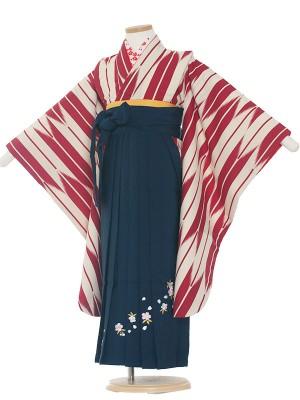 女児袴(7女)0001 赤矢絣×紺袴