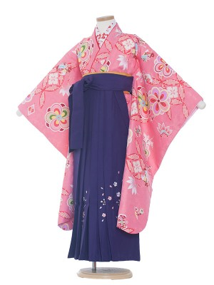 女児袴(7女)0031 七宝柄×紫袴