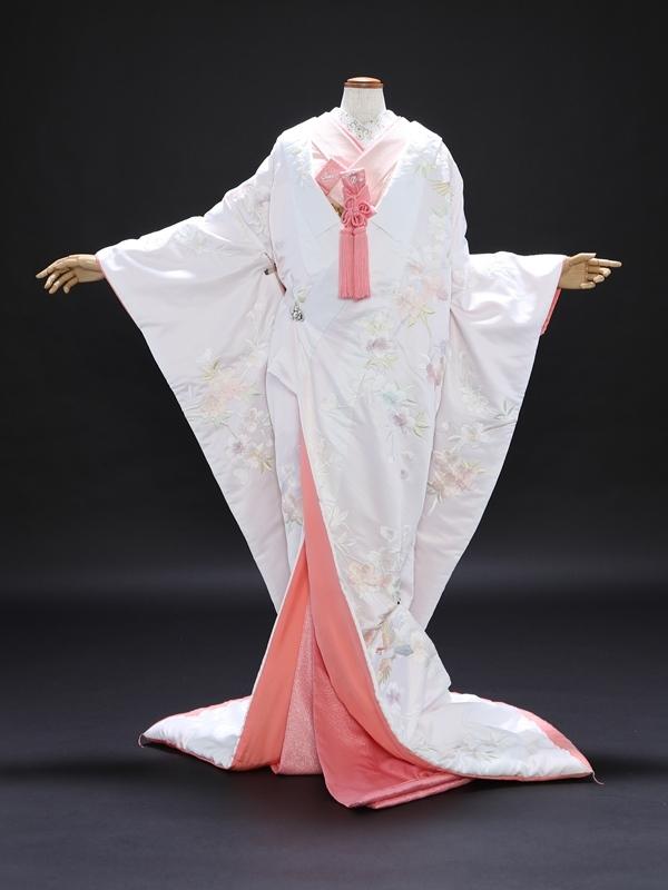 白無垢858/白/薄ピンク裏桜