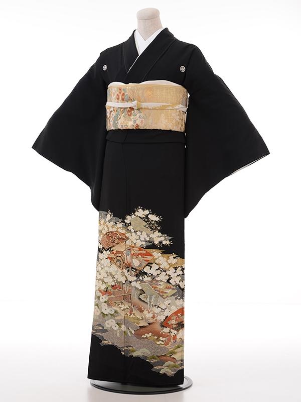 黒留袖レンタル2016姫・御殿・扇・花