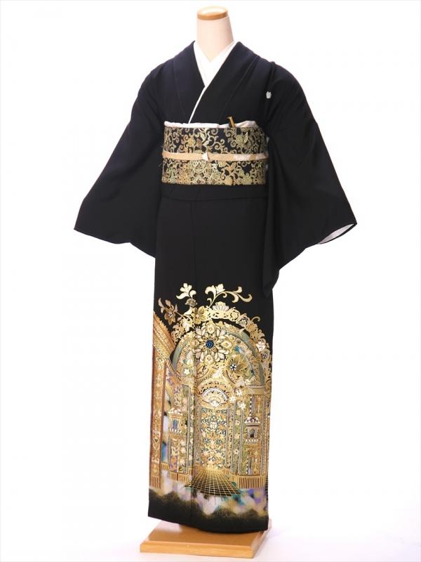 桂由美 黒留袖 レンタル8AA134