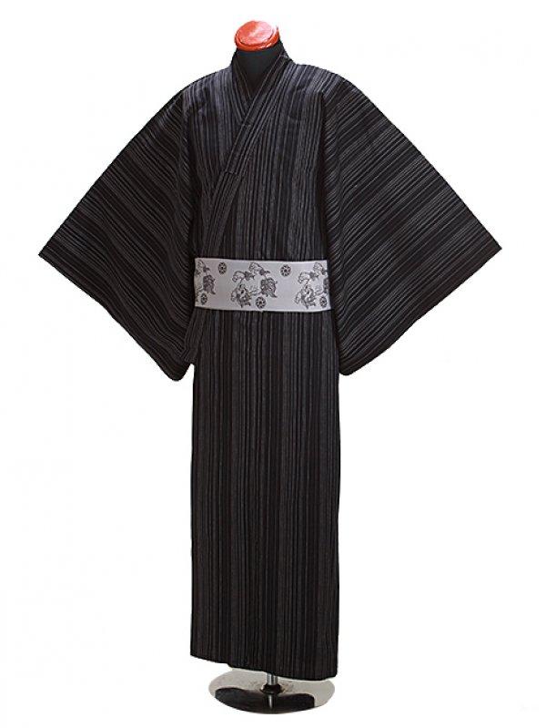 浴衣 男性 L~LLサイズ Y116 黒刺子