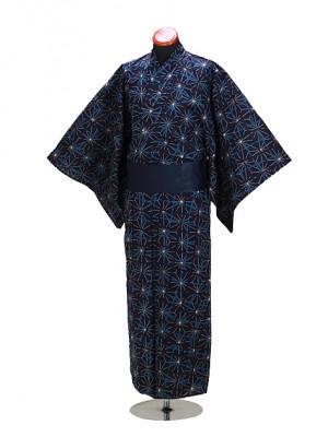 浴衣 男性 MLサイズ Y105 紺/麻葉