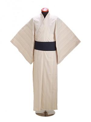 浴衣 男性 L~LLサイズ Y117 白刺子