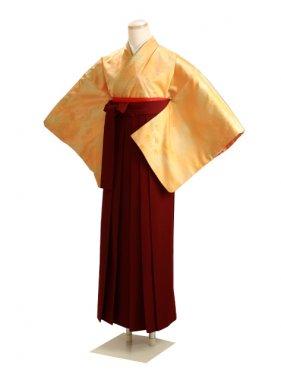卒業式袴 無地 オレンジ DD14【身長155cm位】