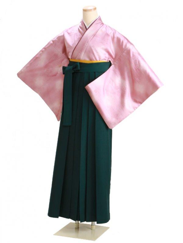 卒業式袴 無地 ローズ DD12 緑袴【身長160cm位】