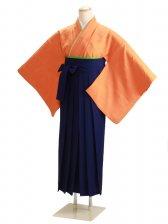 卒業式袴 無地 オレンジ DD62【身長155cm位】