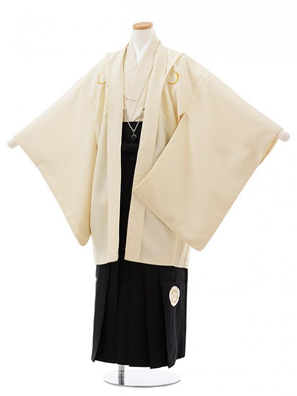 ジュニア袴男児J002 KukkaBOY 紺紋付×黒袴