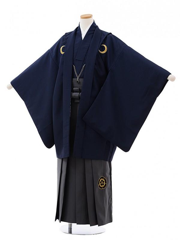ジュニア袴男児J004 KukkaBOY グリーン紋付×グレー袴