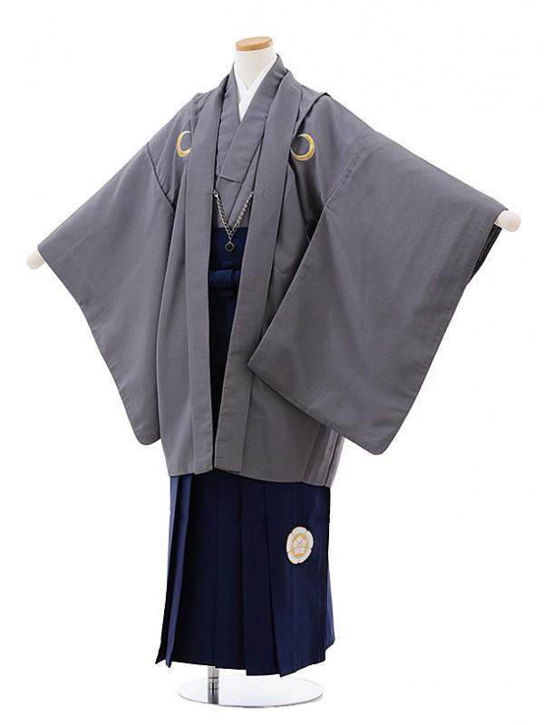 ジュニア袴男児J001 KukkaBOY 黒紋付×紺袴