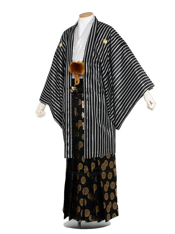 男性用袴 7号黒ストライプ柄/7X01