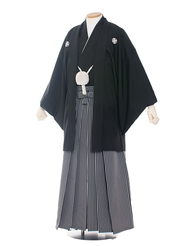 男性用袴 紋服7号定番黒紋付/70K0