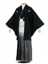 男性用袴 紋服7号新郎黒紋付ぼかし/7-00