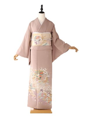 色留袖5112小鶴の舞