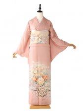 色留袖5131菊の柄ピンク