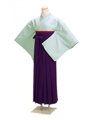 卒業式袴 ブルーグレー 16 紫袴【身長160cm位】