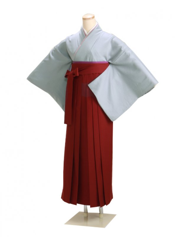卒業式袴 正絹 グレー 86【身長150cm位】