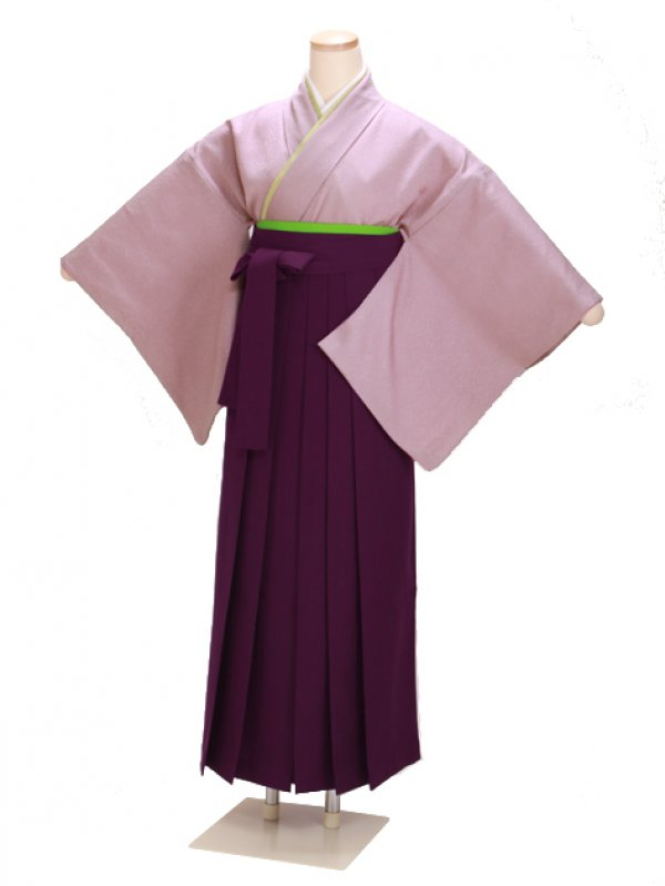 卒業式袴 正絹 紫 63【身長160cm位】