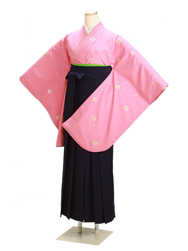 卒業式袴 ピンク 小桜 0237【身長150cm位】