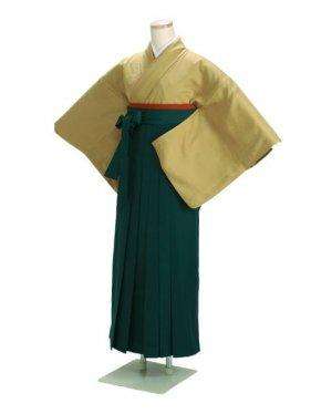 卒業式袴 正絹 カラシ 87【身長160cm位】