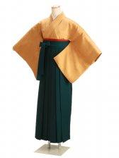 卒業式袴 正絹 からし 53【身長160cm位】