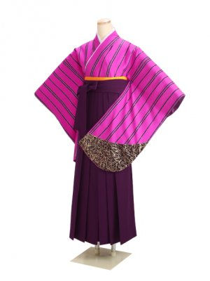 卒業式袴 ピンク 0243 紫袴【身長165cm位】