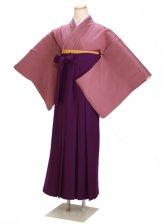 卒業式袴 正絹 紫 84【身長150cm位】