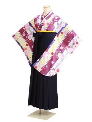 卒業式袴 白桜 0305 紺袴【身長155cm位】