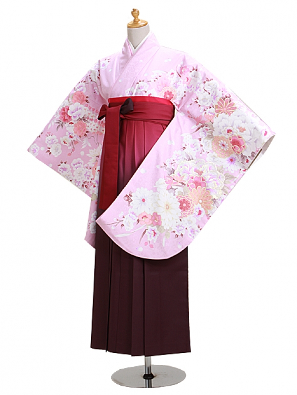 卒業式袴 ピンク 花 0301【身長160cm位】