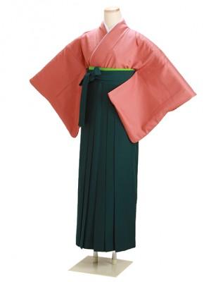 卒業式袴 正絹 レンガ 69 緑袴【身長150cm位】