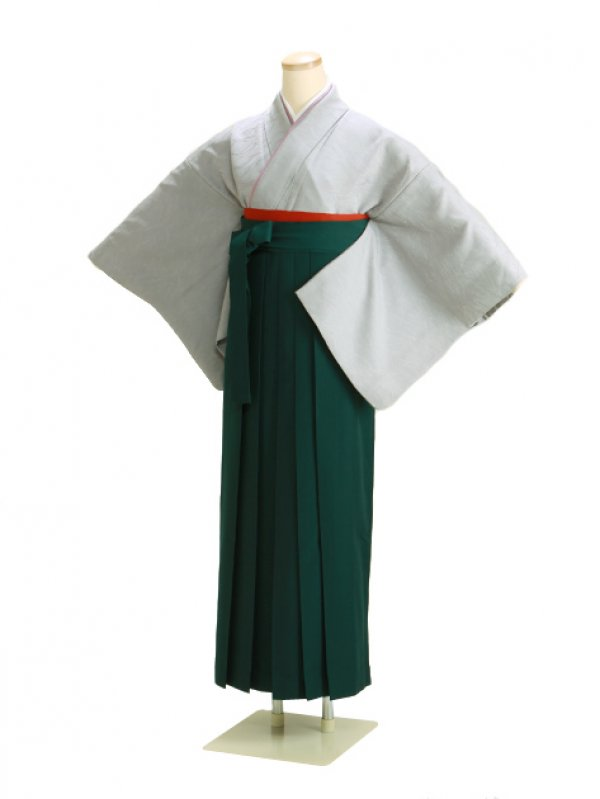 卒業式袴 正絹 グレー 55【身長150cm位】