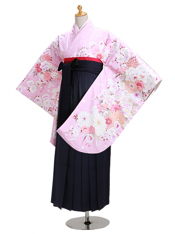 卒業式袴 ピンク 花 0301【身長155cm位】