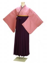 卒業式袴 正絹 ローズ 70【身長170cm位】