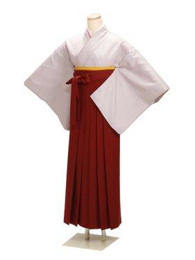 卒業式袴 正絹 グレー 73【身長160cm位】