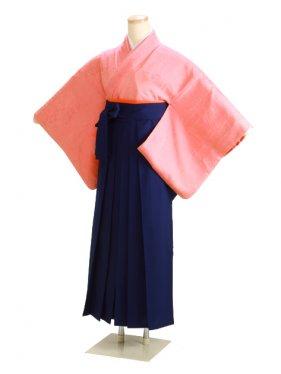 卒業式袴 正絹 ピンク 36【身長160cm位】