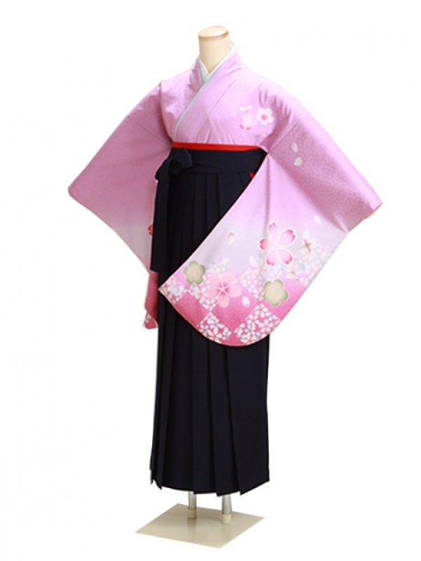 卒業式袴 パープル 桜 0280【身長160cm位】