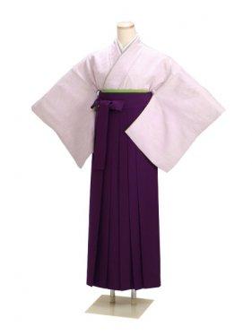 卒業式袴 正絹 薄紫 50【身長160cm位】