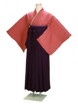 卒業式袴 正絹 レンガ 80 紫袴【身長150cm位】