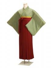 卒業式袴 正絹 グリーン 83【身長165cm位】