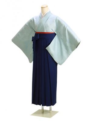 卒業式袴 正絹 水色 51 花紺袴【身長160cm位】