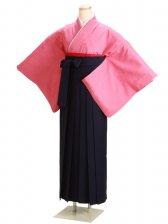 卒業式袴 正絹 濃ピンク 60【身長160cm位】